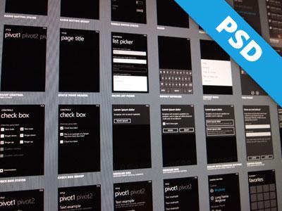 Windows Phone 7.x UI windows phone 7 psd free ui