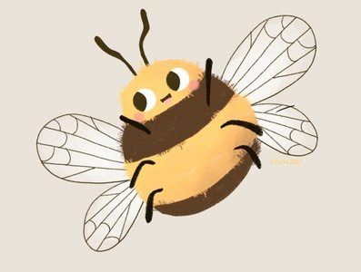 Bee happy cute happy bee bug