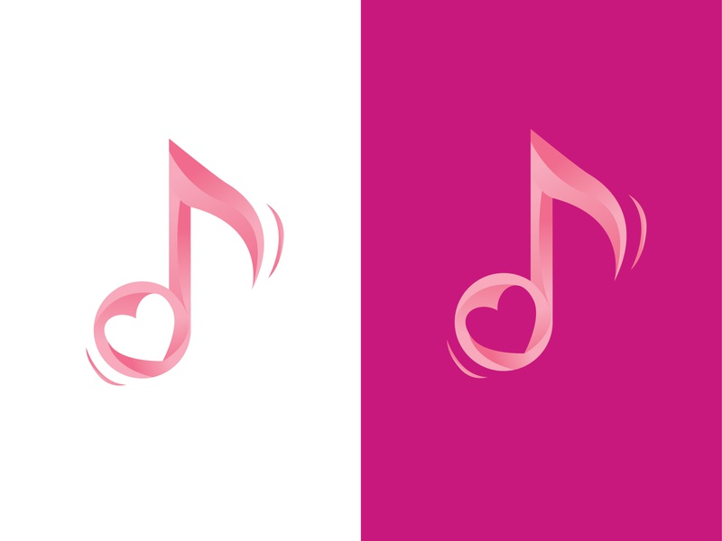 love tones logo logo art illustrator flat design vector minimal illustration icon