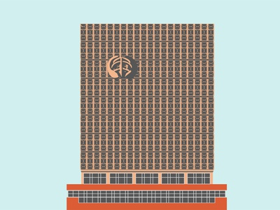 Raykom district administration unique travel ussr simple buildings shadow yerevan vector design flat old monument minimal illustration city building architecture