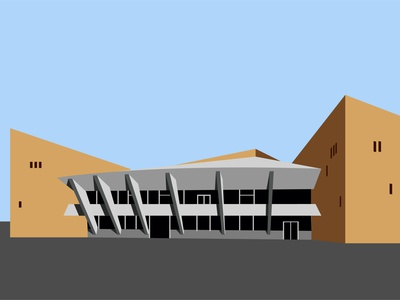 Gyumri airport airports administration travel ussr gyumri collection construction small airport shadow building minimal simple vector illustration flat design city architecture