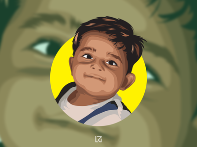 Vector Illustration baby vector portrait illustrator