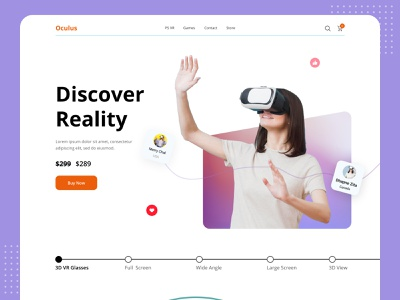VR Header Exploration 2021 dribbble homepage landingpage vr design product website online header shop buyer virtualreality uiux ui interface web vr