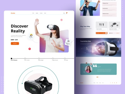 VR Web Exploration 2021 uiux landingpage homepage minimal color designer design clean best top popular design 2021 trend dribbble dribbble best shot vr website design webdesign web design website web