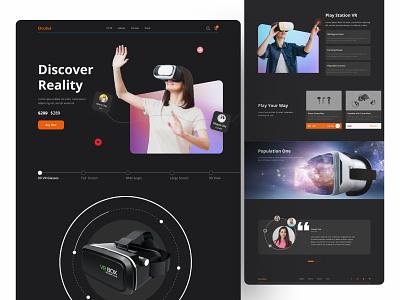 VR  Exploration 2021 vr webdesign interface ui uiux virtualreality buyer shop web online website product vr design landingpage homepage dribbble