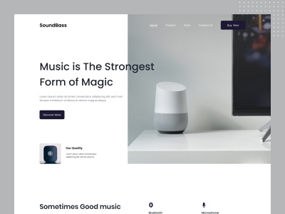 Bluetooth Speaker UI 2021 2021 web landing bluetooth speaker top dribbble product landing web design homepage branding landingpage website design website homepage design shop buyer uiux ui interface web speaker