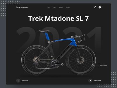 Bicycle Header Ui Exploration 2021 dribbble best shot top homepage design branding dark ui dribbble bicycle landing page design ui  ux ui header design home page landing page web design website web