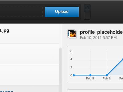 Upload View ui button chart app web