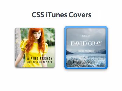 iTunes-Style Covers in CSS ui album css app