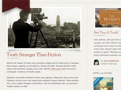 Stranger Than Fiction redesign website blog wordpress