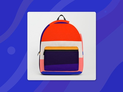 Colorful backpack on Society6!