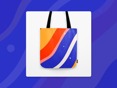 Totebag on Society6 sale pop geometric lines pattern whimsical colorful society6 bag totebag