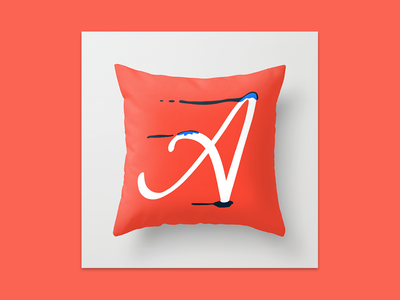 Dripping Letter pillow