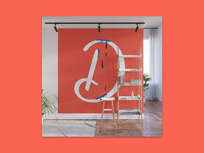 Dripping Letter mural