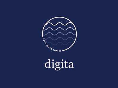 Let's make waves illustration icon typography logo ux ui illustrator graphic design design branding