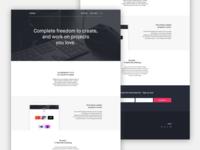 Designers Landing Page