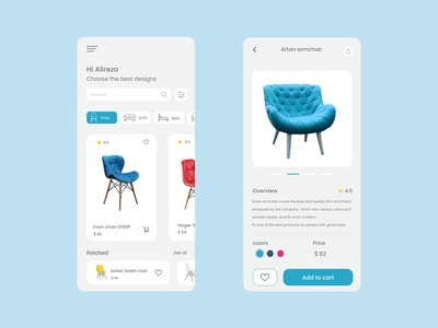 sofa app chair sofa mobile ui mobile design ux ui design