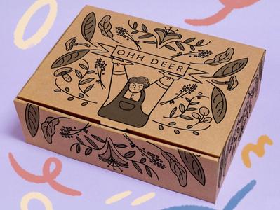 Natural Forms Baby! (Ohh Deer Packaging Design Competition) nature illustration nature art nature foraging forage childrens illustration editorial illustration branding logo design illustration art illustration art