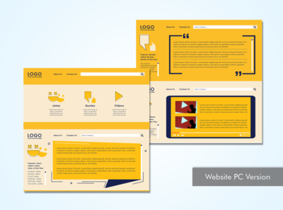 Joke UI graphic design layout website concept website design ui design