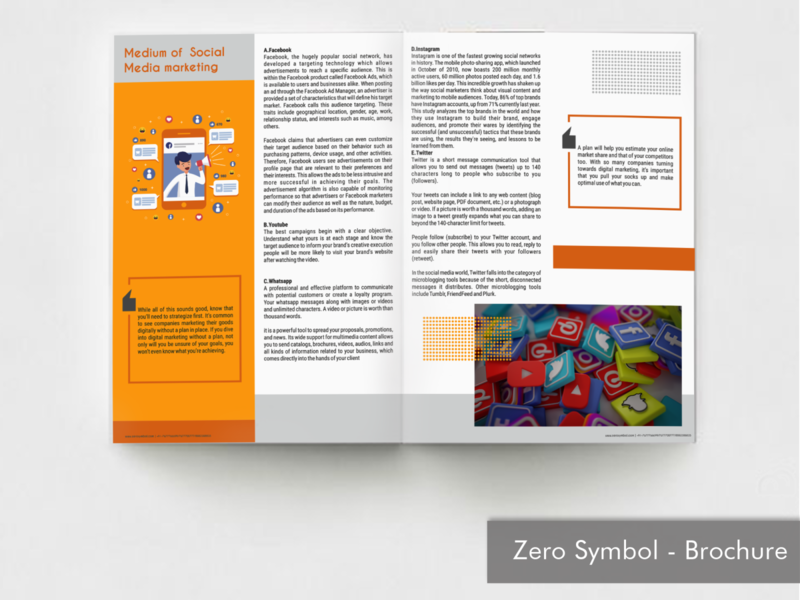 Magazine - ZeroSymbol coverpage branding illustration layout concept design magazine design graphicdesign