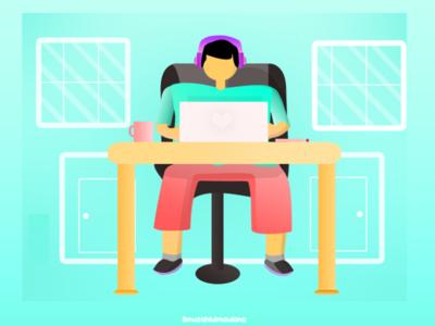 character ilustration Work Designer illustrator branding icon animation vector flat art design illustration
