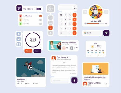 App Widget Concept ui ux widget ux kit ui kit typography ios14 design system concept clean bright color app