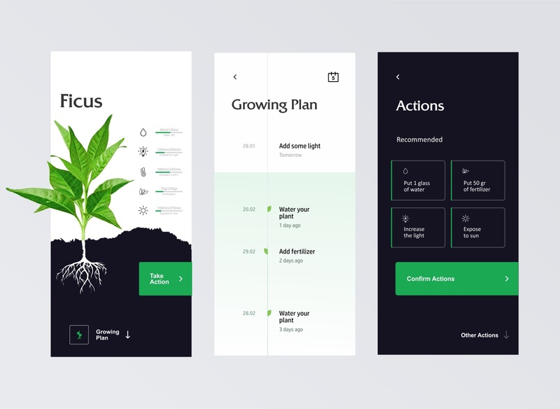 Plant App ui design ux design web app clean ui design app uxui ui ux plant app clean clean design plant