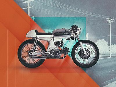 Motolinear #2 - Honda Sport 90 design illustration motorcycle motorcycles logo brand honda sport90 hondasport90