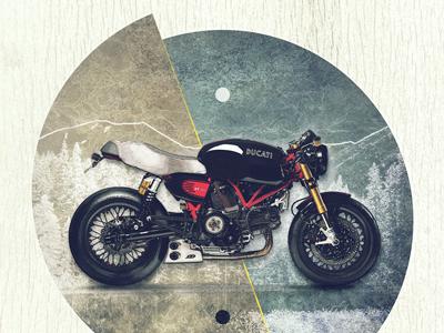 Motolinear #5 - Sport Classic GT1000 design motorcycle illustration motorcycles ducati sport classic gt1000 custom modern streetfighter photoshop