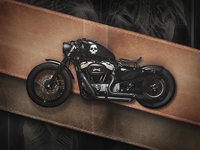 Motolinear #6 - Harley Davidson Nighster 1200 motorcycle moto design illustration photoshop harleydavidson sportster nightster modern bobber