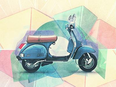 Motolinear #8 - LML Star 200 design illustration motorcycle motorcycles logo brand lml lohiamachinerylimited star star200 photoshop