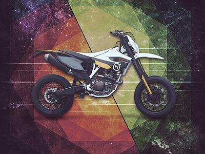 Motolinear #9 - Husqvarna FS501 moto husqvarna hooligan supermoto modern custom photoshop motorcycles illustration motorcycle design