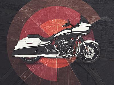 Motolinear #10 - Harley-Davidson Road Glide road glide motoart art moto harley-davidson photoshop motorcycles illustration motorcycle design