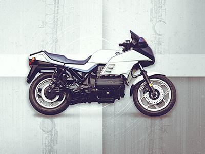 Motolinear #11 - BMW K100RS art moto classic k100rs bmw photoshop motorcycles illustraion motorcycle design