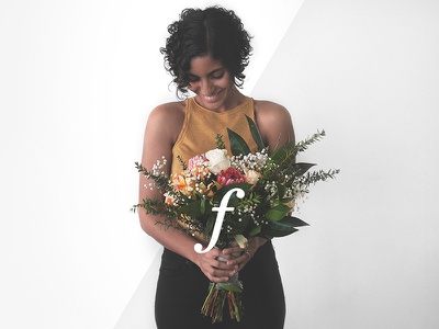 Ella Rose Flowers banner website web design floral arrangement typography photography flowers