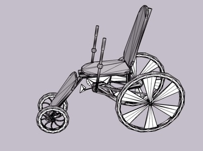 Wheel Chair 3d animation studio 3d model 3d animation