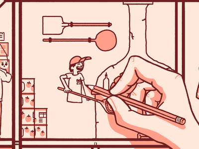 Art Director @ Two Robbers branding hard seltzer seltzer pizza packaging design cartoon illustration
