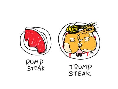 Bull politics america usa trump illustration editorial pun humour gag comic cartoonist cartoon