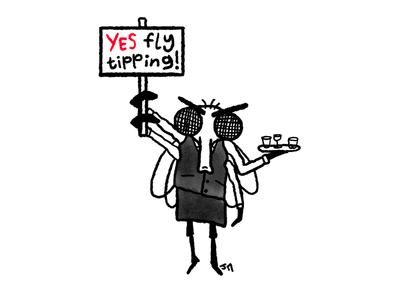 Insects Insist illustration editorial pun humour gag comix comic cartoonist cartoon