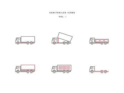 Semitrailer Icons