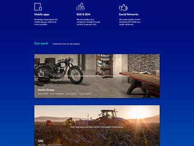 Infinety Portfolio case study icons agency landing grid photoshop portfolio infinety