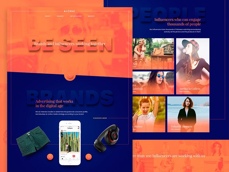 Aloha! 3d photos girls orange product influencers photoshop