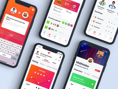 Olinkpix soccer app 2 mockup iphone x ios 11 sketch soccer ios apps