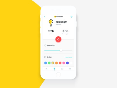 Lemoor Smart House light ios smart house mockup sketch
