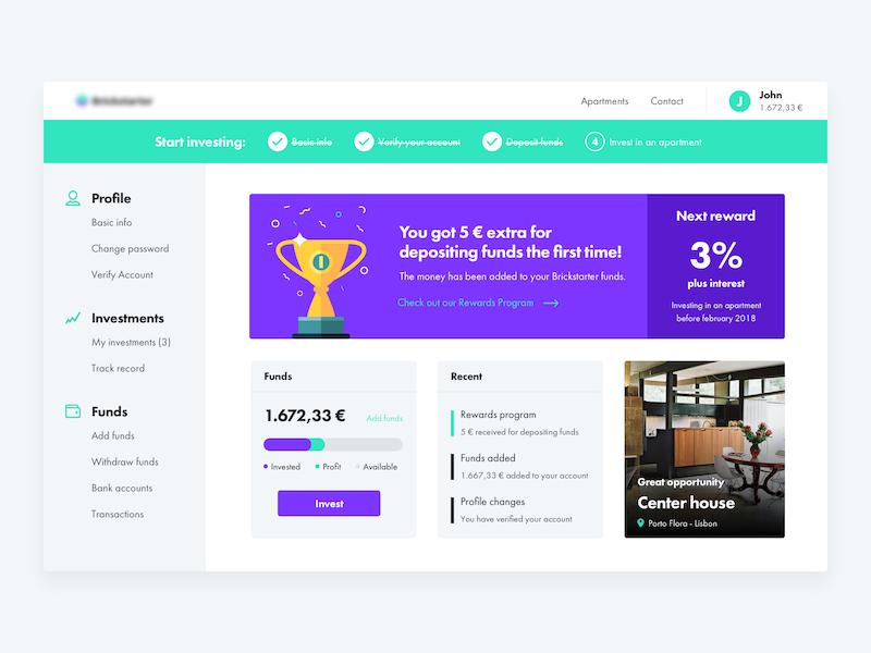 Dashboard WIP mockup sketch ui crowdfunding dashboard