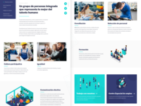Implea website web design corporate blue sketchapp layout