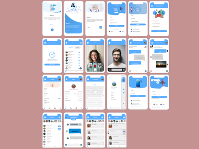 chat project mockup graphicdesign appdesign ui design ux ui