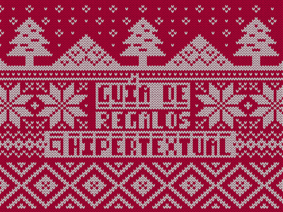 Gift Christmas Guide 2017 illustration pixel guide cover sweater christmas