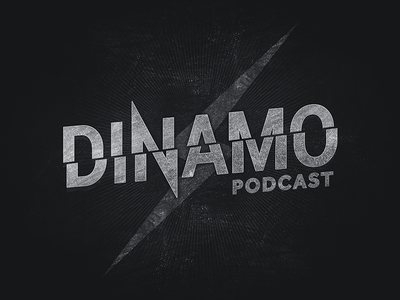 Dinamo Podcast typography cover podcast music grey grunge
