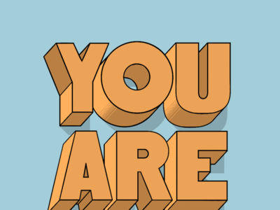 You Are Here typography inspired typography lettering handlettering procreate illustration